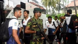Bangladesh team arrives in Sri Lanka amid tight security